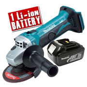 Makita DGA452Z3 Makita 18v Li-ion 115mm Grinder Body + 1 x 3.0Ah Battery
