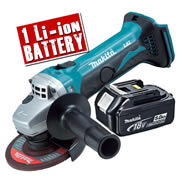 Makita DGA452-Z5 Makita 18v Li-ion 115mm Grinder Body + 1 x 5.0Ah Battery