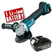 Makita DGA454-Z3 Makita 18v Li-ion Brushless Grinder 115mm Body + 1 x 3.0Ah Battery