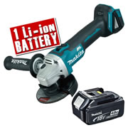 Makita DGA454Z4 Makita 18v Li-ion Brushless Grinder 115mm Body + 1 x 4.0Ah Battery