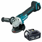 Makita DGA456Z5 Makita 18v LXT Li-ion Brushless Cordless Grinder 115mm (Body) + 5.0Ah Battery