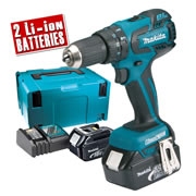 Makita DHP459RJ Makita 18v Brushless Hammer Drill Driver
