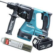 Makita DHR242Z4 Makita 18v Li-ion Brushless SDS+ Drill Body + 1 x 4.0Ah Battery