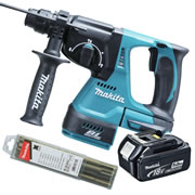 Makita DHR242Z5 Makita 18v Li-ion Brushless SDS+ Drill Body + 1 x 5.0Ah Battery