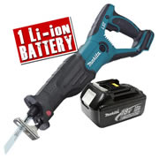 Makita DJR181Z3 Makita Li-ion 18v Recip Saw body + 1 x 3.0Ah Battery