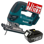 Makita DJV180Z3 Makita 18v Li-ion Jigsaw Body + 1 x 3.0Ah Battery