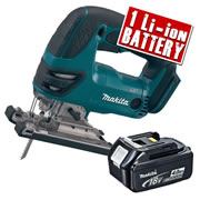 Makita DJV180Z4 Makita 18v Li-ion Jigsaw Body + 1 x 4.0Ah Battery