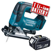 Makita DJV182-Z4 Makita 18v Li-ion Brushless Jigsaw Body + 1 x  4.0Ah Battery