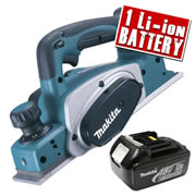 Makita DKP180-Z3 Makita 18v Li-ion Planer Body + 1 x  3.0Ah Battery