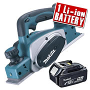 Makita DKP180Z5 Makita 18v Li-ion Planer Body + 1 x 5.0Ah Battery