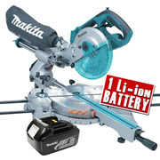Makita DLS713Z3 Makita 18V Li-ion Cordless Mitre Saw Body + 1 x 3.0Ah Battery