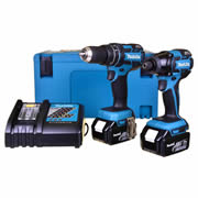 Makita DLX2002RJ Makita 18v Li-ion Brushless 2 Piece Kit