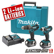 Makita DLX2012X Makita 18v Lithium-ion 2 Piece Kit