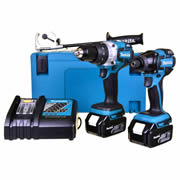 Makita DLX2040RJ Makita 18v Li-ion Brushless 2 Piece Kit