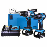 Makita DLX2040TJ Makita 18v Li-ion Brushless 2 Piece Kit - 5.0Ah