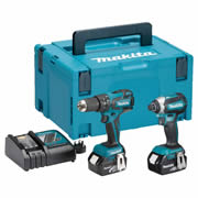 Makita DLX2173TJ Makita 18v Li-ion 4.0Ah Brushless 2 Piece Kit