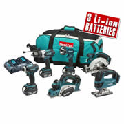 Makita DLX6012PM Makita 18v Li-ion Cordless 6 Piece Kit