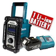 Makita DAB JobSite Radio Plus 18v 3.0Ah Battery and Charger Kit (Blue)