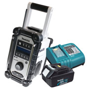 Makita DAB JobSite Radio Plus 18v 3.0Ah Battery and Charger Kit (White)