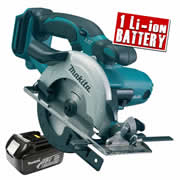 Makita DSS501Z3 Makita 18v Li-ion Circular Saw 136mm Body + 1 x 3.0Ah Battery