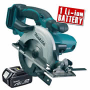 Makita DSS501Z4 Makita 18v Li-ion Circular Saw 136mm Body + 1 x 4.0Ah Battery