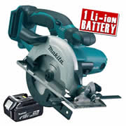 Makita DSS501Z5 Makita 18v Li-ion Circular Saw 136mm Body + 1 x 5.0Ah Battery