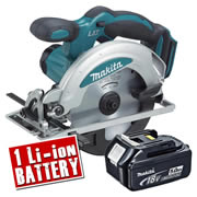Makita DSS610Z5 Makita 18v Li-ion Circular Saw 165mm Body + 1 x 5.0Ah Battery