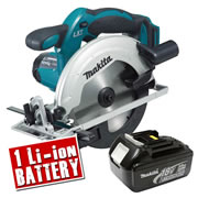Makita DSS611Z3 Makita 18v Li-ion Circular Saw 165mm Body + 1 x 3.0Ah Battery