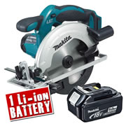 Makita DSS611-Z5 Makita 18v Li-ion Circular Saw 165mm Body + 1 x  5.0Ah Battery