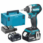 Makita DTD154RMJ Makita 18v Li-ion 4.0Ah Cordless Brushless Impact Driver