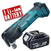 Makita DTM51Z5 Makita 18v Li-ion Multi-Tool Body + 1 x 5.0Ah Battery