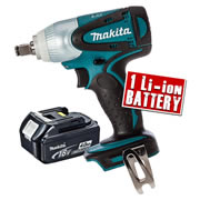 Makita DTW251Z4 Makita 18v Li-ion Impact Wrench Body + 1 x 4.0Ah Battery