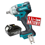 Makita DTW281Z3 Makita 18v Lithium-ion Impact Wrench Body + 1 x 3.0Ah Battery