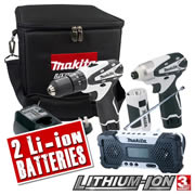 LCT4PK Makita 10.8v Cordless Lithium-Ion 4 Piece Kit MAKLCT4PK