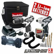 LCT4PKB Makita 10.8v Lithium-Ion Cordless Bundle MAKLCT4PKB