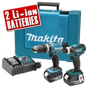 LXT2KB Makita 18V Lithium-ion Cordless 2 Piece Kit MAKLXT2KB
