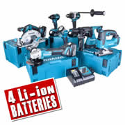 Makita TOPKIT7AJ Makita 18v 7 Piece Fully Brushless Kit