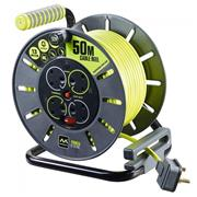 Masterplug OLU50134SL Masterplug 50m 4 Socket 13A Metal Cable Reel