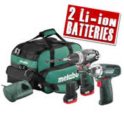 Metabo COMBOSET 2.3 Metabo 10.8v Lithium-Ion 2 Piece Pack