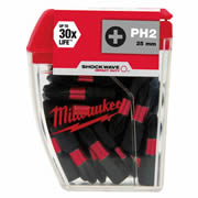 Milwaukee 4932430853 Milwaukee Shockwave 25 x PH2 25mm Screwdriver Bits