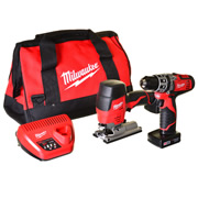 M12SET2D32B Milwaukee 12v Li-ion Cordless 2 Piece Kit MILM12SET2D32B