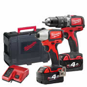 Milwaukee M18BLDD402C Milwaukee 18V Li-ion Brushless Twinpack