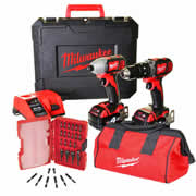 Milwaukee M18CBPK Milwaukee 18v Li-ion 2 Piece Kit