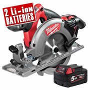 Milwaukee M18CCS55-502C Milwaukee 18v Fuel Brushless 165mm Circular Saw  5.0Ah