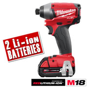 Milwaukee M18CID202C Milwaukee Fuel 2.0Ah 18V Lithium-ion Brushless Impact Driver