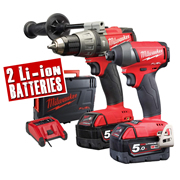 Milwaukee M18 FPP2A-502C Milwaukee 18v Next Gen Fuel 2 Piece Kit