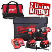 Milwaukee M18 FPP2A-502XBG Milwaukee 18v Next Gen Fuel Brushless 2 Piece Kit