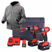 Milwaukee M18 FFP2A523XB Milwaukee 18v Next Gen Fuel 2 Piece Kit + 12v Heated Hoodie