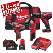 Milwaukee M18SET2J-423B Milwaukee 18v Powerpack Set