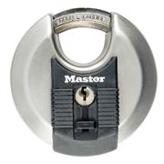 Master Lock MLKM50EURD Masterlock 80mm Excell Stainless Steel Discus Padlock, 17mm Shackle, 11mm Diameter